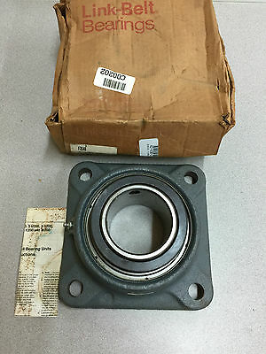 "New In Box Link-Belt 4-Bolt Flange Bearing 3"" Bore F2E48"
