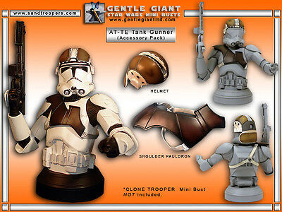 RARE Star Wars - Episode III CLONE TROOPER Mini Bust AT-TE Accessory Pack, NEW