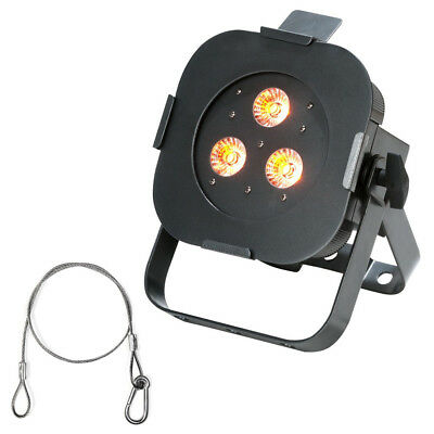 American DJ ULTRA HEX PAR3 3x10w LED Par Lighting Fixture with Safety Harness