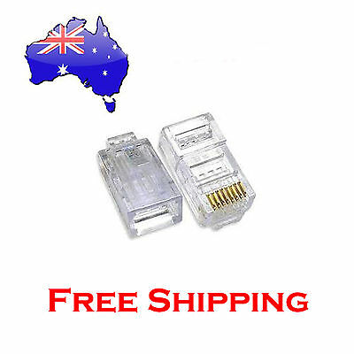 100 x RJ45 Connector Modular Plug 8P8C CAT5e CAT5 CAT6 LAN Network Ethernet Head