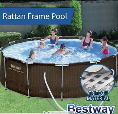 Bestway Above Ground Swimming Pool Steel Frame with Filter Pump 12ft 366cm