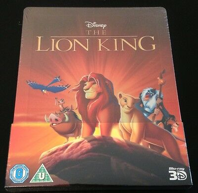 Disney THE LION KING 3D Blu-Ray SteelBook Zavvi UK Exclusive 1st Ed New OOP Rare