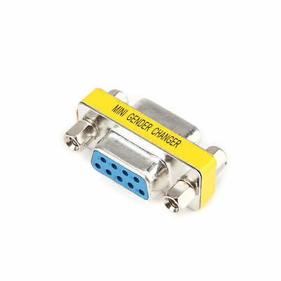 9 Pin RS-232 DB9 Female to Female Serial Cable Gender Changer Coupler Adapter