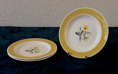 Susie Cooper Marigold Handpainted Side Plates - Set of 3