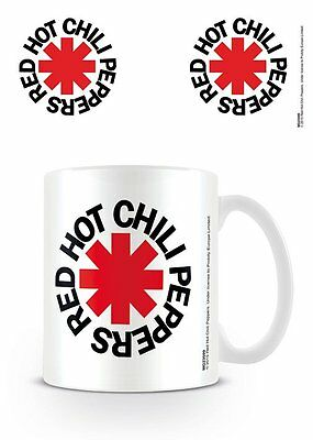 Red Hot Chili Peppers - Ceramic Coffee Mug / Cup (White Logo)