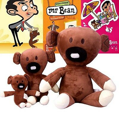 "Hot New Mr Bean And Bear Soft Stuffed Plush Toys Dolls Kid Gifts Size 6""/12""/18"""