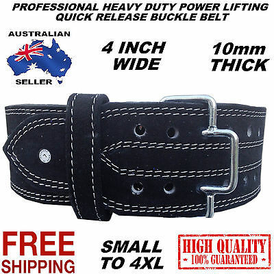 Heavy Duty Genuine Leather Power Weight Lifting Bodybuilding  Fitness Gym Belt