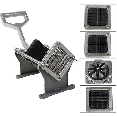 Potato French Fry Fruit Vegetable Cutter Slicer Commercial Quality W 4 Blades OY
