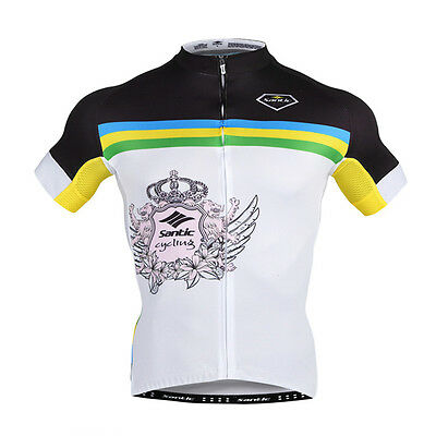 01a2f81ea New Santic Men s Bicycle Jacket Short Sleeve Wicking Blike Cycling Jersey  L-2XL