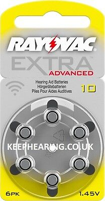 Rayovac Extra MERCURY FREE Hearing Aid Batteries Size 10