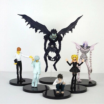 Death Note Set of 6x Mini Action Figures PVC Doll Statue Model Toy Gift