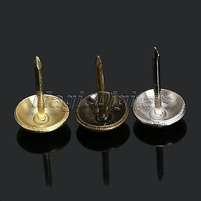 Bronze/Gold/Silver Upholstery Nail Tacks Wood Furniture Studs Decorative 11x17mm