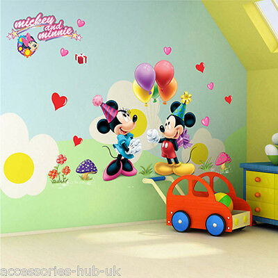 Disney Mickey Mouse Wall Sticker Decal Kids/nursery/bed & Play Room Decore.uk