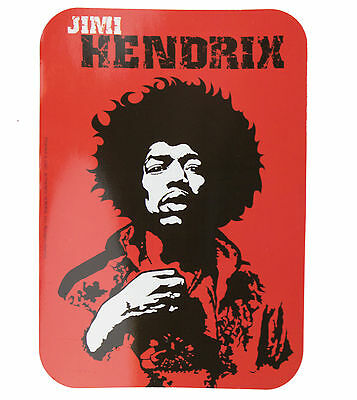 Jimi Hendrix Logo Red Vinyl Sticker New Official Band Merchandise Ps6696T
