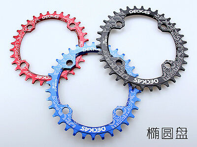 bicycle oval chainring 104bcd narrow wide 32 34T 36 38 single chain ring for MTB