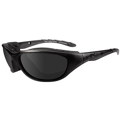 Wiley X Airrage Glasses Black Ops Smoke Grey Polarized Uv Lens Matte Black Frame