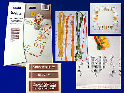 Embroidery package Handarbeits Tablecloth 80 x80 incl. Embroidery yarn &