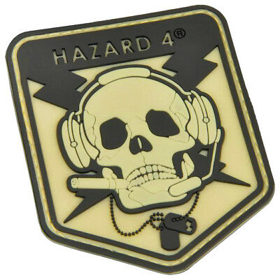 Hazard 4 Operator Skull Morale Patch Visible Rubber Case Glow In The Dark