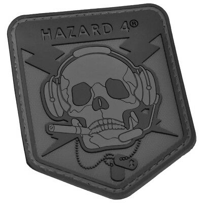 Hazard 4 Operator Skull Morale Patch Airsoft Rubber Tactical Patrol Black