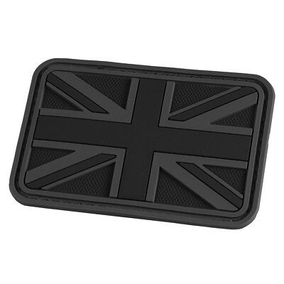 Hazard 4 Union Jack Uk Flag Morale Patch British 3D Military Rubber Army Black