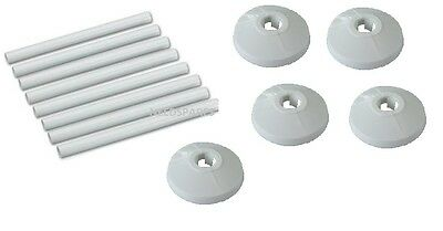 8 X 15mm NEW WHITE RADSNAPS RADIATOR PIPE COVERS + COLLARS - FREE UK DELIVERY