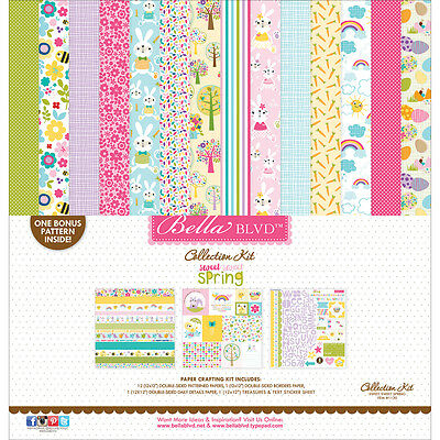 """Bella Blvd Collection Kit 12""""X12"""" Sweet Sweet Spring SWTS1120"""