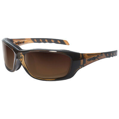 Wiley X Wx Gravity Glasses Ballistic Uv Bronze Flash Lens Brown Crystal Frame
