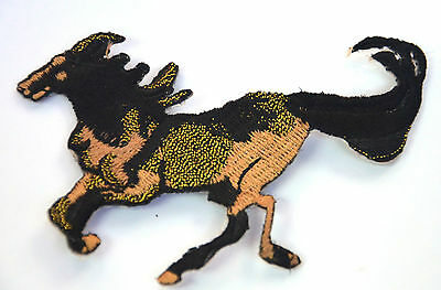 HORSE WILD STALLION MUSTANG Embroidered Iron Sew On Cloth Patch Badge APPLIQUE