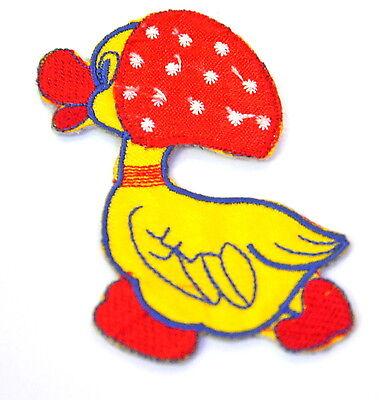 DUCK DUCKLING BONNET SCARF Embroidered Iron Sew On Cloth Patch Badge  APPLIQUE
