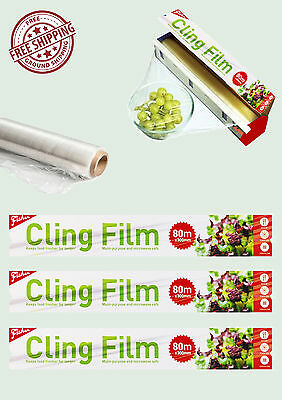 Cling Film-Kitchen Professional Catering Storage Packs Food Wrap Wrapping New uk