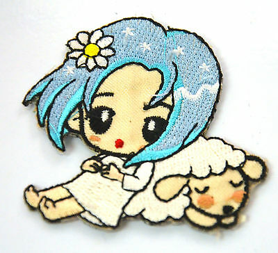 GOODNIGHT SWEET DREAM LAMB  Embroidered Iron Sew On Cloth Patch Badge  APPLIQUE