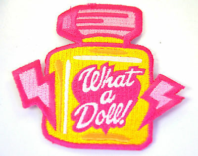 PERFUME BOTTLE KITCH Embroidered Iron Sew On Cloth Patch Badge  APPLIQUE
