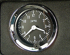 "Land Rover Series 1 2 2a Gen Smiths Dash Panel 2"" Auxiliary Analogue Clock Gauge"
