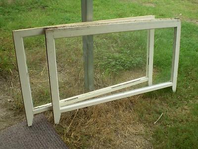 2 large silky oak windows  solid frames clear glass .ex double hung,window only