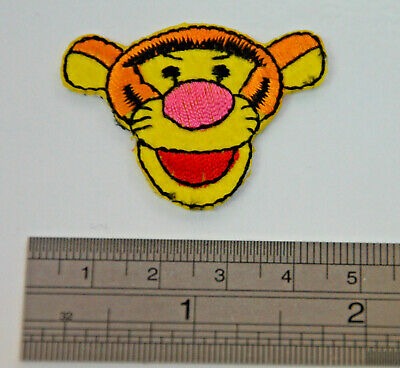 2x TIGGER WINNIE THE POOH BEAR  Embroidered Iron Sew On Patch Badge  APPLIQUE