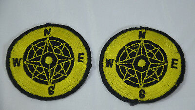 COMPASS NORTH SOUTH EAST   Embroidered Iron Sew On Cloth Patch Badge  APPLIQUE