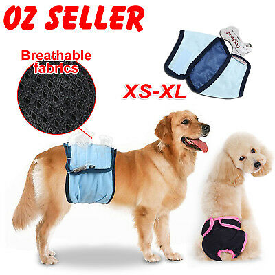 XS-XL Male Dog Puppy Nappy Diapers Belly Wrap Band Sanitary Pants Underpants