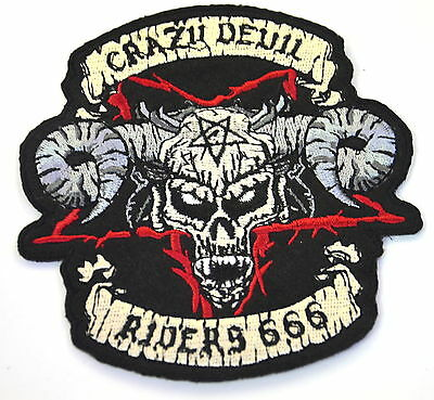 CRAZY DEVIL RIDERS 666 GANG  Embroidered Sew Iron On Cloth Patch Badge APPLIQUE