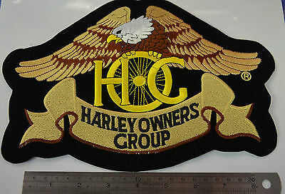 HARLEY DAVIDSON OWNERS GROUP HOG  Embroidered Iron On Cloth Patch Badge APPLIQUE