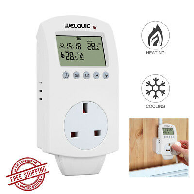 3In1 Digital Wood Moisture Damp Meter Concrete Log Detector Humidity Temp Tester