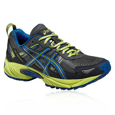 ASICS GEL-Venture 5 GS Junior Blue Grey Running Trail Sports Shoes Trainers
