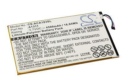 Batterie 4500mAh pour Acer A1-830, Iconia Tab 8, A1311