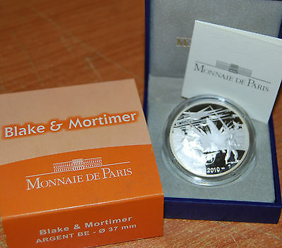 France 2010 Blake & Mortimer 10 euro Silver Proof - Francia 10€ plata silber