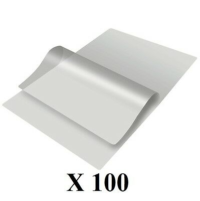 Laminating Pouches Various Size - (100 Pack)