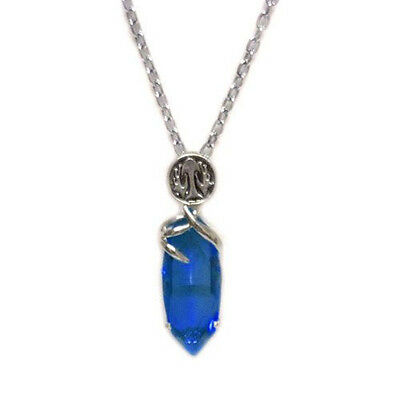 Final Fantasy X 10 Blue Crystal Necklace Cosplay Pendant Chain Game Collectible