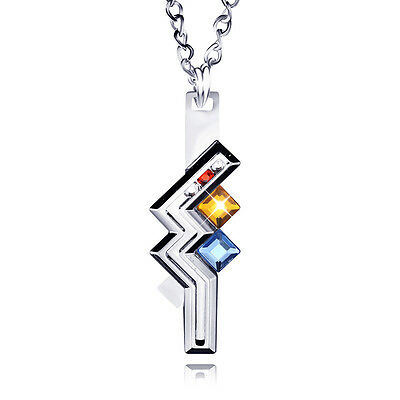 Final Fantasy XIII 13 Lightning Necklace Cosplay Pendant Chain Game Collectible