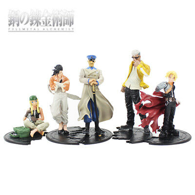 HOT Anime Fullmetal Alchemist Set of 5x Action Figures PVC Model Collectible Toy