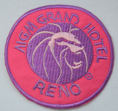 MGM GRAND RENO CASINO PINK  Embroidered Iron Sew On Cloth Patch Badge  APPLIQUE
