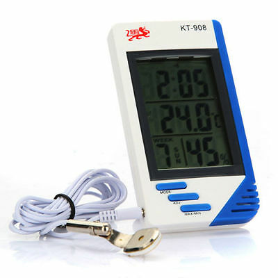 Big Screen Indoor And Outdoor Temperature Hygrometer KT-908. UK SELLER