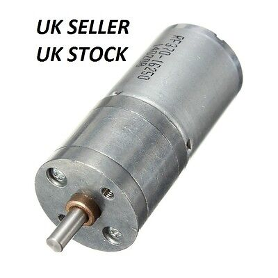 12V DC 60RPM Powerful Torque Micro Speed Reduction Gear Box Motor. UK SELLER